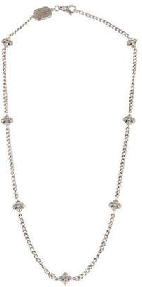 King Baby Studio CZ MB Cross Station Necklace $225 thestylecure.com