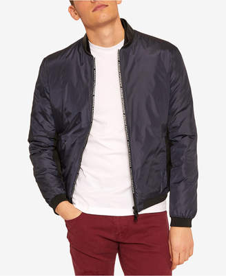 Armani Exchange Men's Lightweight Logo-Zipper Bomber Jacket
