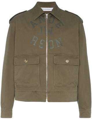 J.W.Anderson logo printed Harrington jacket