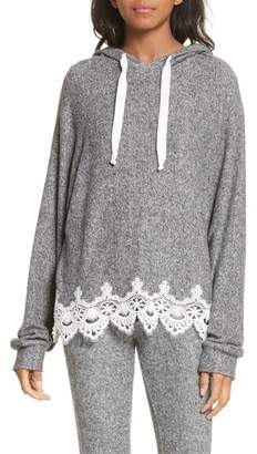 The Kooples Lace Hem Hoodie
