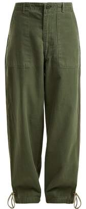 Myar - Contrast Piping Relaxed Fit Trousers - Womens - Dark Green Multi