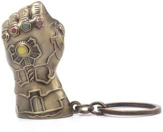 Marvel Merch Avengers Infinity War Keyring Keychain Thanos Gauntlet 3D Official Marvel Metal