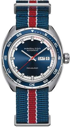Hamilton American Classic Pan Europ Automatic Leather Strap Watch; 42mm