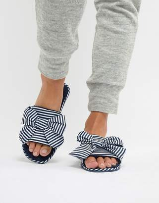 Truffle Collection Bow Slippers