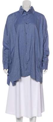 eskandar Chambray Button-Up Top