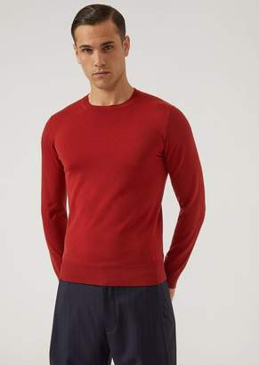 Emporio Armani Crewneck Sweater In Virgin Wool