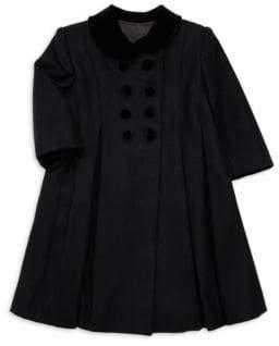 Isabel Garreton Little Girl's Wool and Velvet Jacket