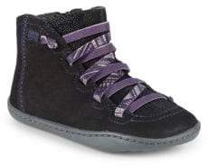 Camper Girl's Leather Beetle High-Top Sneakers