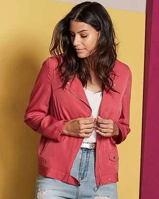 Fashion World Plain Lightweight Biker Jacket