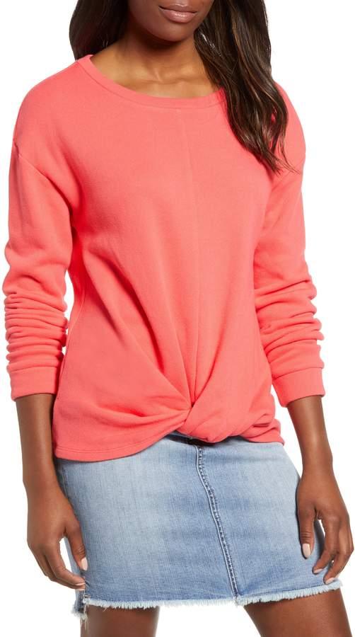 Caslon(R) Twist Front Sweatshirt