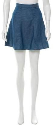 Rag & Bone Chambray Mini Skirt