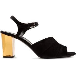 Jil Sander Open-toe block-heel suede sandals