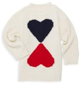 Burberry Little Girl's& Girl's Double-Heart Wool& Cashmere Sweater