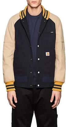 Junya Watanabe Comme des Garçons Men's Colorblocked Cotton Varsity Jacket