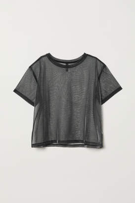 H&M Shimmering Mesh Top - Black