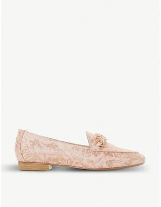 Dune Brocade-pattern embellished loafers