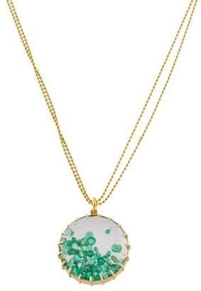 Renee Lewis 18K Emerald Shake Pendant Necklace