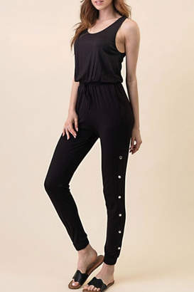 Runway & Rose Button Leg Jumpsuit
