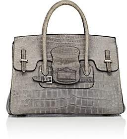 Moreau Paris Women's Diligence Crocodile Satchel - Dark Gray