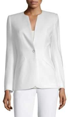 Elie Tahari Allegra Front-Snap Jacket