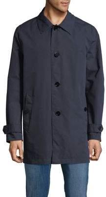 Cole Haan Spread Collar Buttoned Rain Jacket