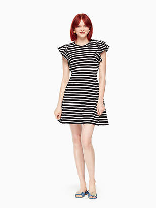 Kate Spade Stripe flutter sleeve dress