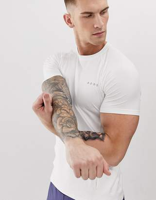 Asos 4505 4505 muscle training t-shirt with quick dry in white