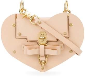 Niels Peeraer Saddle leather Heart handbag