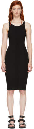 Alexander Wang Black Stretch Rib Knit Visible Strap Dress