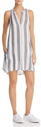 Bella Dahl Frayed Striped Shirt Dress