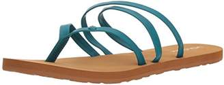 Volcom Women's Easy Breezy Jesus Thong Synthetic Leather Sandal Flat