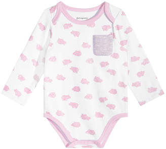 First Impressions Baby Girls Pig-Print Pocket Bodysuit, Created for Macy's