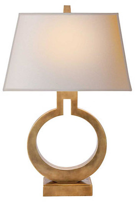 Visual Comfort & Co. Small Ring Table Lamp - Antique Brass