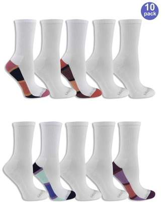 Fruit of the Loom Women's Everyday Soft Cushioned Crew Socks 10 Pack