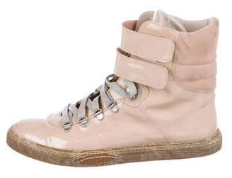 Brunello Cucinelli Patent Leather High-Top Sneakers
