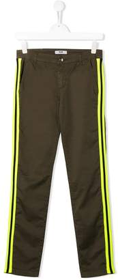 MSGM Kids TEEN side stripe trousers