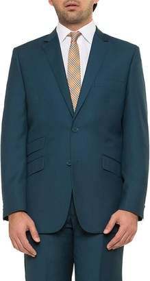 English Laundry Men's Solid Two-Button Ticket Jacket, Teal