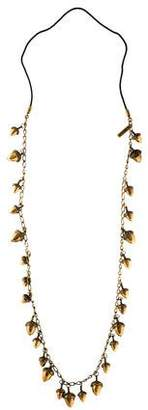 Burberry Acorn Charm Station Necklace