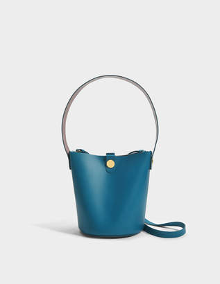 Sophie Hulme The Swing Bag in Blue Lagoon Cow Leather
