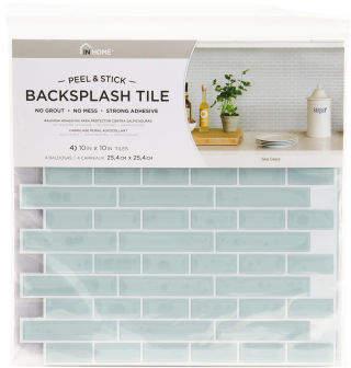 Sea Glass Peel & Stick Backsplash Tiles