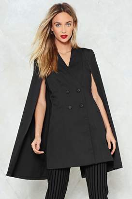 Nasty Gal Cape Out of Trouble Blazer