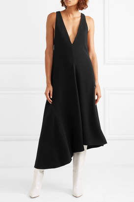 Tibi Crepe Midi Dress - Black