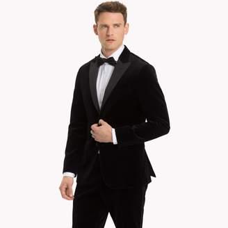 Tommy Hilfiger Black Velvet Slim Fit Dinner Jacket