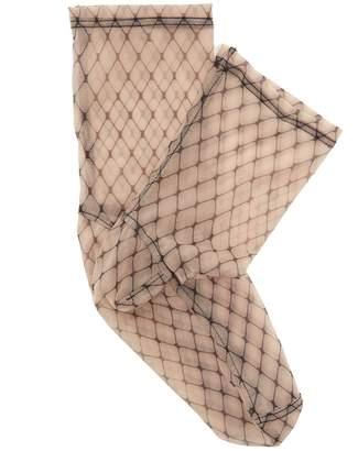 DARNER SOCKS Fishnet-print mesh ankle socks