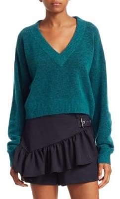 3.1 Phillip Lim Long-Sleeve Lofty V-Neck Sweater
