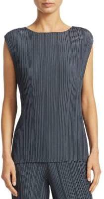 Fabiana Filippi Boatneck Pleated Tank