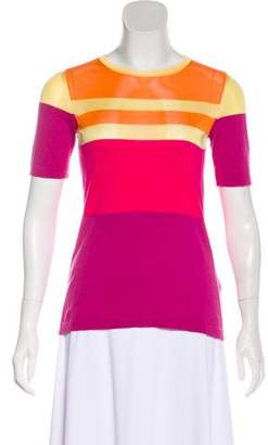 Peter Som Colorblock Knit Top