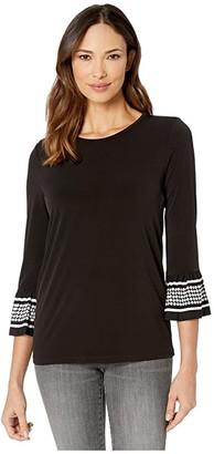 MICHAEL Michael Kors Simple Dot Flare Sleeve Shirt
