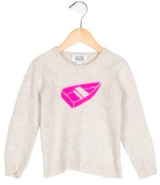 Autumn Cashmere Girls' Cashmere Intarsia Sweater