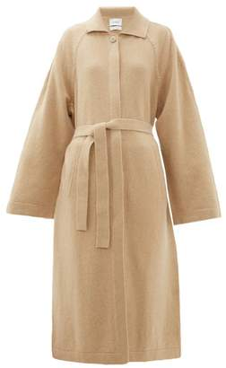 Barrie Belted Cashmere And Lambswool Blend Cardigan - Womens - Camel